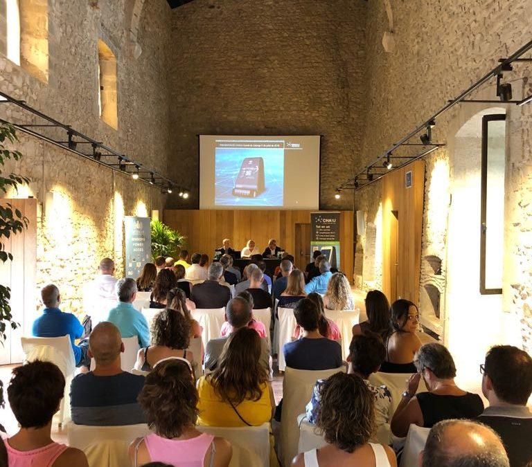 Acte de presentació de CHAtU al Castell de Calonge, organitzat per l'ajuntament de Calonge